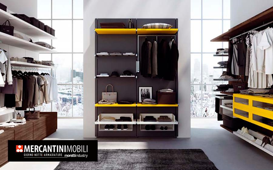 Елегантні шафи та гардеробні кімнати від Mercantini
